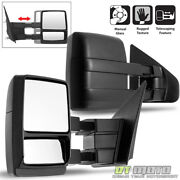 Left+right 2004-2014 Ford F150 Truck Towing Telescoping Tow Side Mirrors Manual