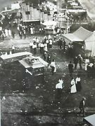 Antique Pittsfield Fair Carnival View From Ferris Wheel Midway Games Old Photo