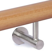 Contemporary Wall Handrail Support - Stainless Steel Contemporary Rail Bracket