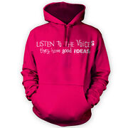 Listen To The Voices Hoodie -x12 Colours- Funny Gig Club Crazy Quirky