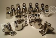 4 Bow Bimini Top Boat Stainless Steel Fittings Marine Hardware Set 7/8 W 2 More