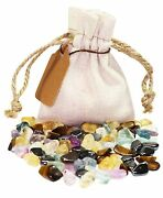 Focus And Concentration Power Pouch Healing Crystals Stones Set Natural Gemstones