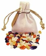 Digestion Power Pouch Healing Crystals Stones Set Tumbled Natural Gemstones
