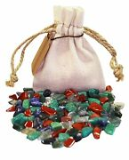 Communication Power Pouch Healing Crystals Stones Set Tumbled Natural Gemstones