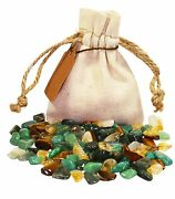 Prosperity Power Pouch Healing Crystals Stones Set Tumbled Natural Gemstones