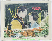 The Lost World Lobby Card Size 11x14 In Movie Poster 1925 Original Dinosaur Film