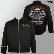 Authentic Lucky 13 Racing Death Lined Chino Jacket M New