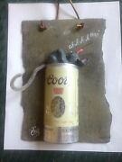 Coors Beer Can Hand-crafted Slate Wall Hanging