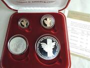 1991 Israel Holy Land Wildlife Song Of Songs Dove And Cedar 2 Gold 2 Silver Coins