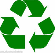 2 X Qty Recycle Cut Sticker Environment Recycling Bins - Choice Of Sizes