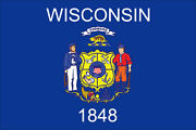 Wisconsin State 10and039 X 15and039 Nylon Flag