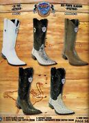 Wild West Menand039s Ostrich Xxx-toe Cowboy Western Boots Diff. Colors