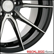 20 Avant Garde Ag M652 Black Machined Concave Wheels Rims Fits Ford Mustang Gt