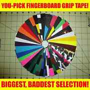 Pick-a-sheet Fingerboard Grip Tape Huge Selection Tons Of Colors Self-sticking