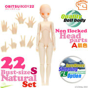 Obitsu 22bd-f01n-s Bust Size Natural Body A Hands And Non Flocked Head Parts Set