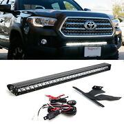 150w 30 Led Light Bar W/ Lower Bumper Brackets Wirings For 16-up Toyota Tacoma