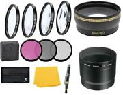 Wide Angle Lens And Macro Close-up Filter Set For Canon Powershot G12 G11 G10