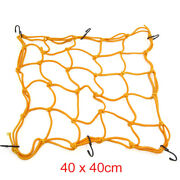 Gold Tone 6 Hooks Hold Down Cargo Luggage Net Mesh For Motorcycle Atvs