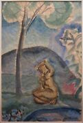 Antique Nicolaides Greek American Moma Whitney Ny Painting Expressionist Nude
