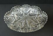 American Brilliant Cut Glass Signed Libbey 10 Serving Tray / Dish, C.1880-1900