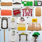 Playmobil Vintage 3775 Pony Ranch Arch Wall Floor Roof Doors Tree Trough-choice