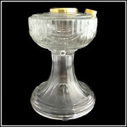 Aladdin Lamp Part R092 Clear Lincoln Drape Font With Brass Hardware - New