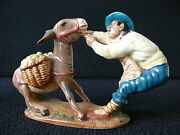 Rare Beswick England Figure 1223 Spaniard Pulling Donkey With Panniers Of Apples