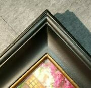 5 Wide Black Gold Ornate Photo Family Oil Painting Wood Picture Frame 40bg