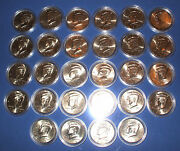 1997 To 2010 Uncirculated Kennedy Half Dollar 28 Coin Set - All P And D Coins