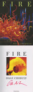 Dale Chihuly Signed Autographed Fire Famed Glass Sculptor Le 1st Ed/1st Print