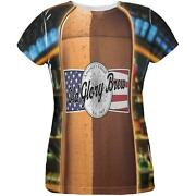 Halloween Old Glory Brew Beer Bottle Costume All Over Womens T Shirt