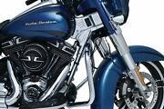 Kuryakyn Chrome Deluxe Neck Frame Covers Accent Dress Up Harley Bagger Touring