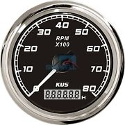 Kus Boat Tachometer With Hourmeter Marine Outboard Tacho Meter 12v/24v 8000 Rpm