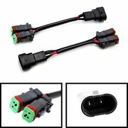 2x Heavy Duty H10/9145/9006 To Dual-output Dtp Fog Light Converter Adapter Wires