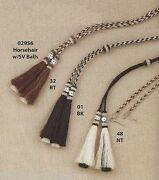 Horsehair And Silver Stampede String Western Cowboy Hat - Cotter Pin - Tails