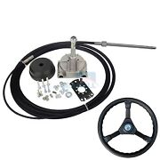 10 Ft Marine Engine Turbine Rotary Steering System Boat Mechanical Cable And Wheel
