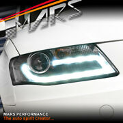 Real Drl Dual Beam Head Lights For Audi A4 S4 B8 09-12 Halogen Model Only