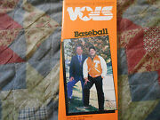 1985 Tennessee Vols Baseball Media Guide Yearbook Rich Delucia Steve Searcy Ad