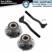 4 Piece Wheel Bearing Hub Assembly And Tie Rod Kit Set For Jeep Suv Truck New
