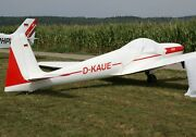 Ask-14 Schleicher Germany Glider Airplane Wood Model Large Free Shipping New