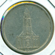 1935-a Germany 5 Reichmark, Church, Great Price