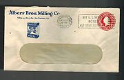 1937 San Francisco Ca Usa Advertising Cover Carnation Wheat Albers Brothers Mill