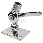 Stainless Steel Vhf Adjustable Antenna Base Marine Dual Axis Mount For Boat