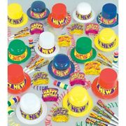 New Years Eve Party Colorama 100-person New Year Party Kit Paper Plastic Favors