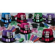 New Years Eve Party Entertainer 50-person New Year Party Kit Paper Supplies