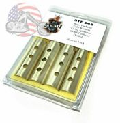 Old-stf Brass Drilled Holes Pushrod Tube Cover Keepers Harley Ironhead Panhead