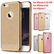 Case Cover For Apple Iphone 5/se 6 7 8 Bling Glitter Sparkly Soft Gel Iphones