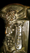 Huge Baroque Style Early C19th Brass Fire Dogs With Perfect Patina.