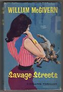Savage Streets By William Mcgivern 1st Uk Ed