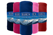 Bulk Lot Of 24 Fleece Throw Blankets Sold By Color Wholesale 50x60 Solid Color